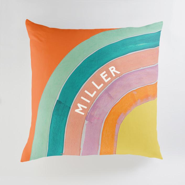 Sherbert Rainbow Personalized Floor Pillows