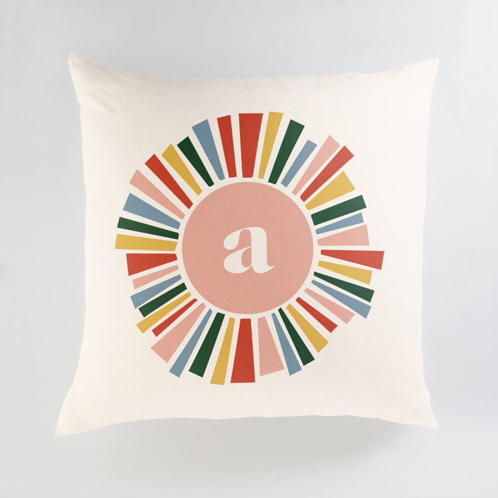 Rainbow Burst Personalized Floor Pillows
