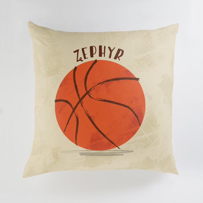 Let us play basketball Personalized Floor Pillows