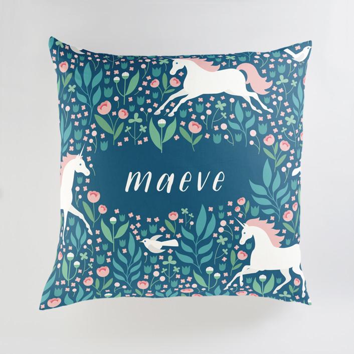 Magical Garden Personalized Floor Pillows