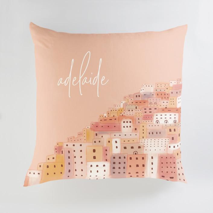 Positano Houses Personalized Floor Pillows