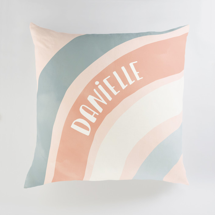 Spring Rainbow Personalized Floor Pillows