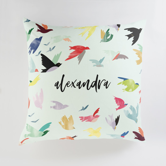 Songbirds Personalized Floor Pillows