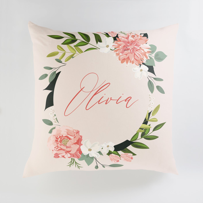 Summer Shower Personalized Floor Pillows