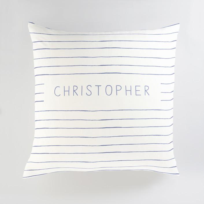 Breton Stripe Personalized Floor Pillows