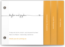 The Happy Couple Wedding Program Minibook™ Cards