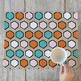 Bright Hexagons by Avie Designs