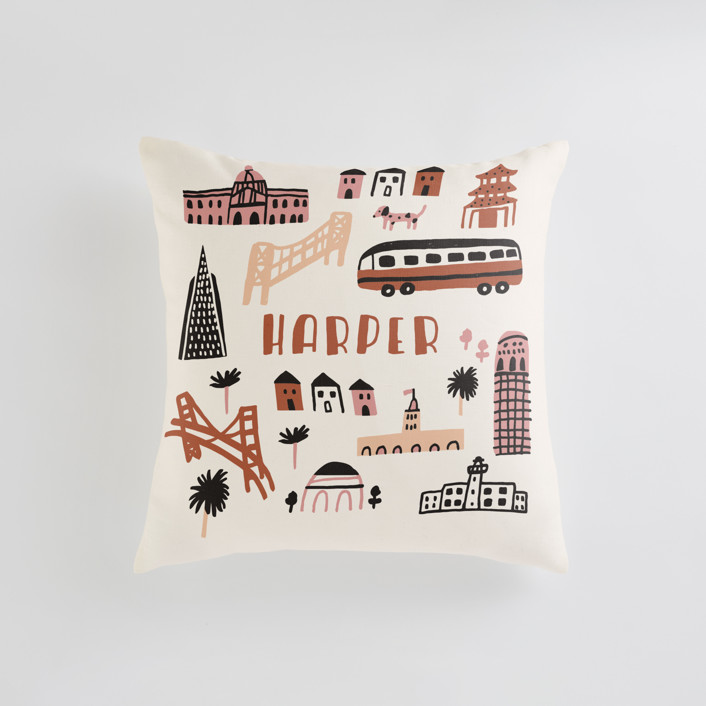 I Love San Francisco Personalizable Pillows