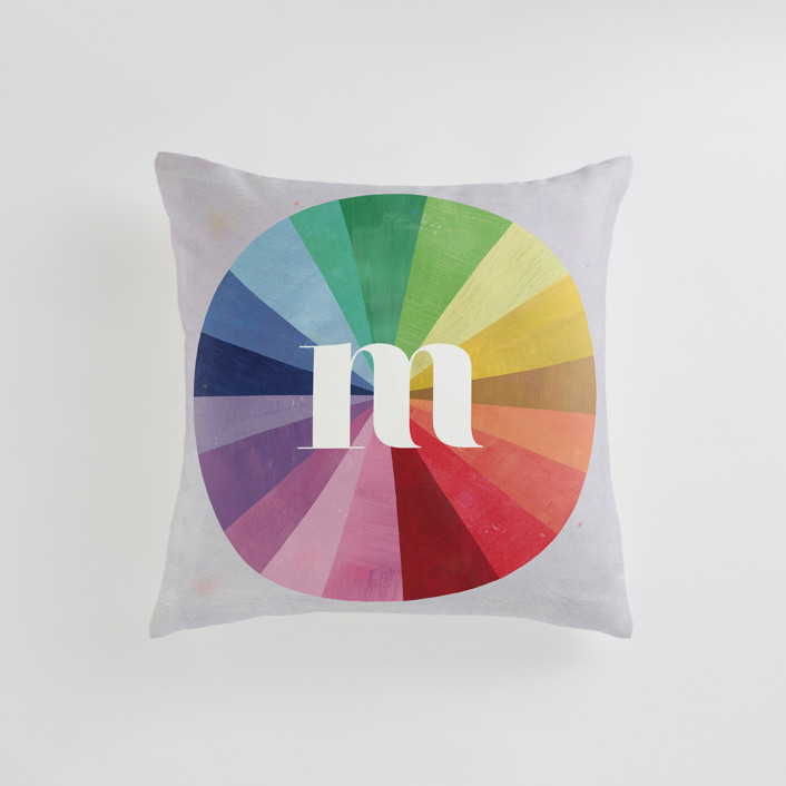 Color Wheel Personalizable Pillows