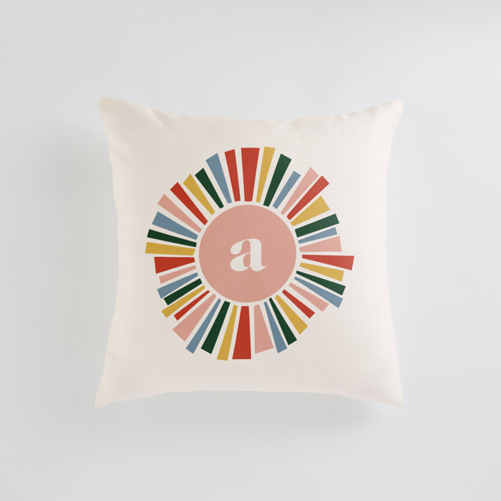Rainbow Burst Personalizable Pillows