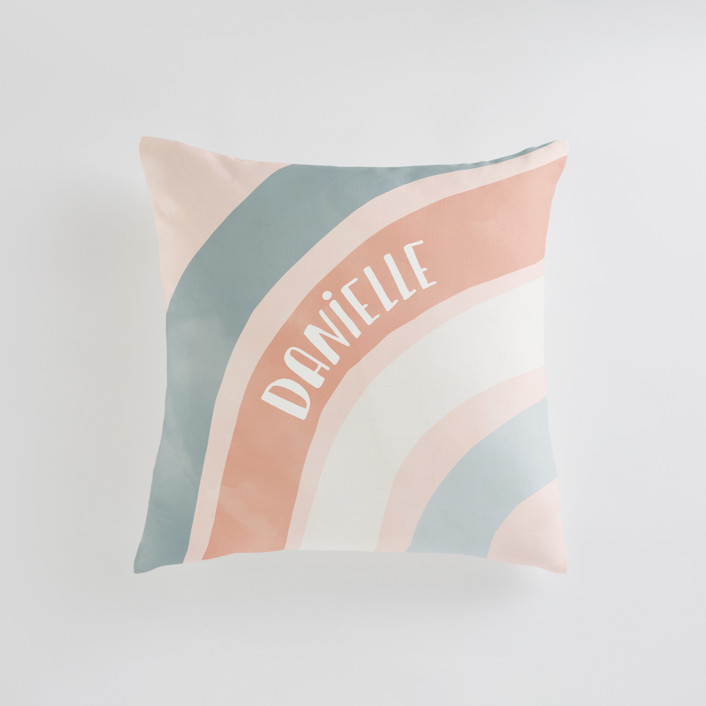 Spring Rainbow Personalizable Pillows