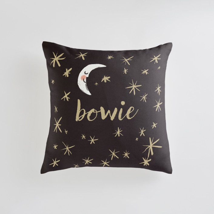 Good Night Moon and Stars Personalizable Pillows