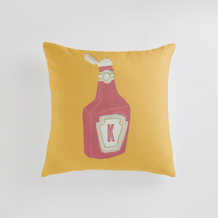 Ketchup Personalizable Pillows
