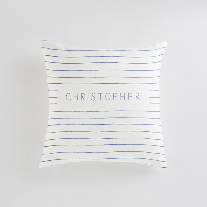 Breton Stripe Personalizable Pillows