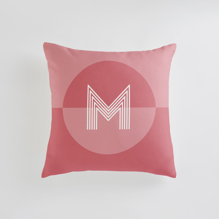 Mod Circle - Warm Personalizable Pillows