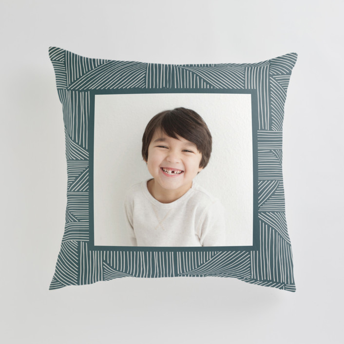Sketchbook Geometric Large 24 Inch Photo Pillow