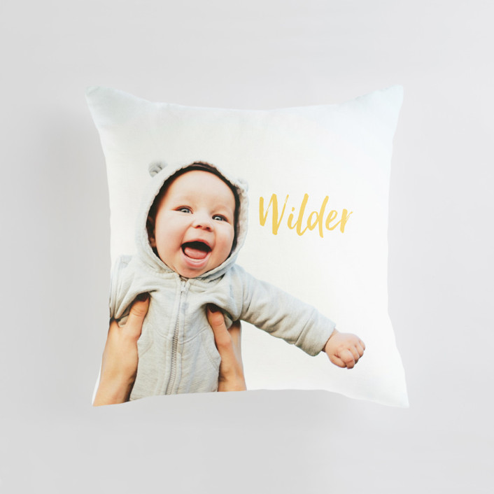 Simple Hello Medium 20 Inch Photo Pillow
