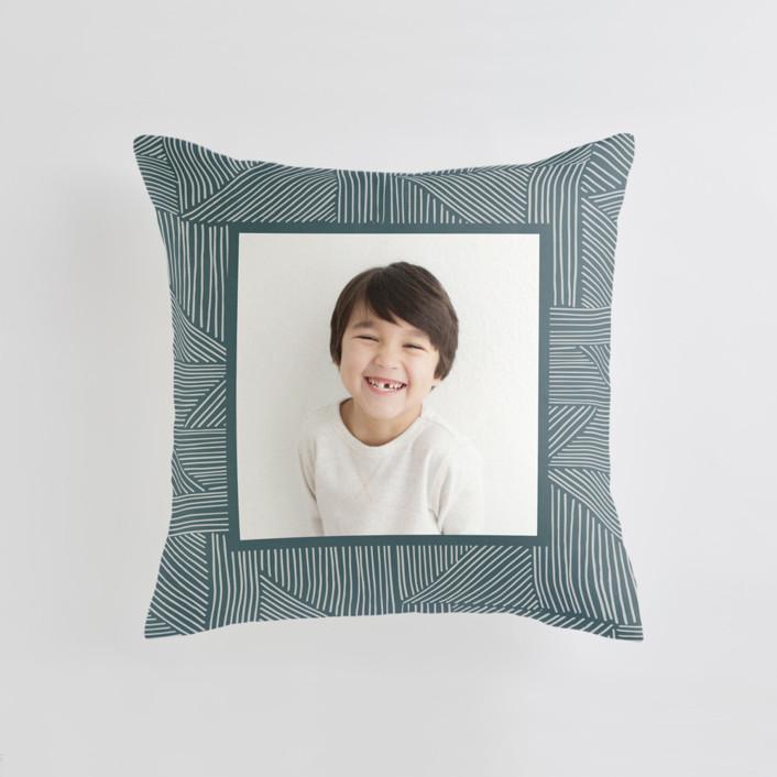Sketchbook Geometric Medium 20 Inch Photo Pillow