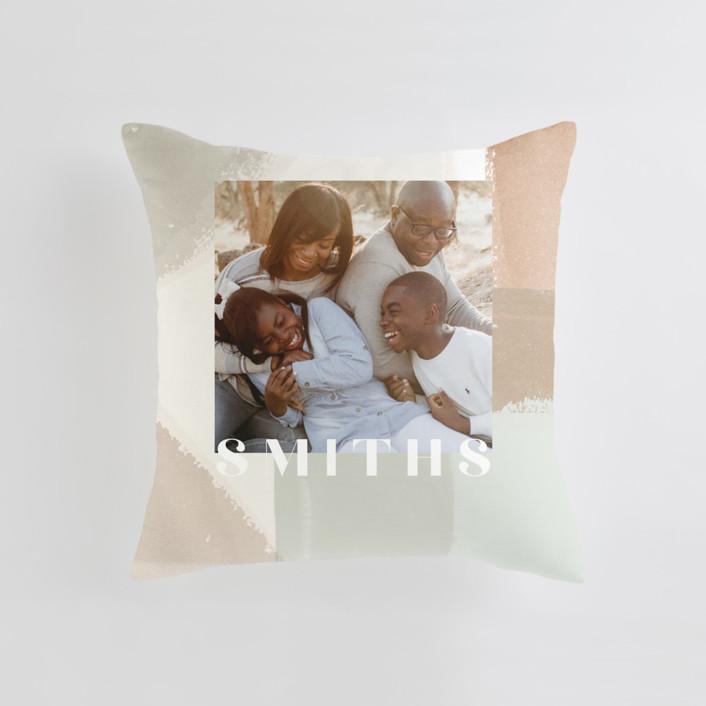 Layered Paint Medium 20 Inch Photo Pillow