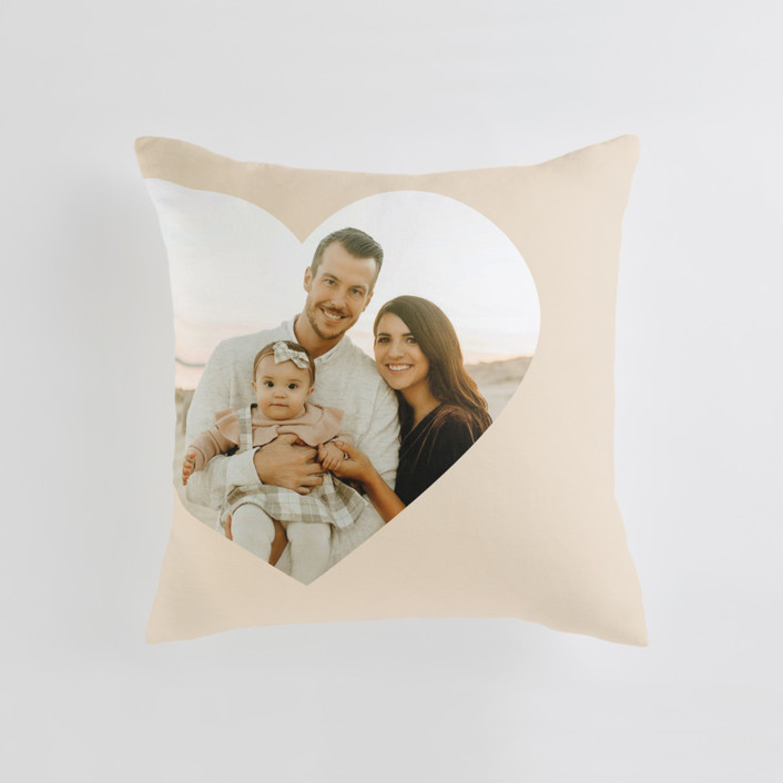 Big Heart Medium Square Photo Pillow