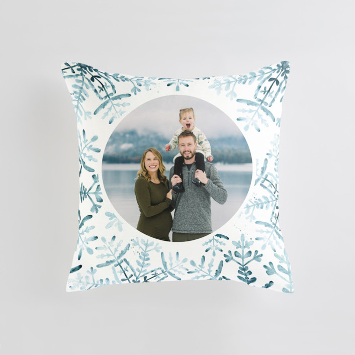 Wintery Flurry Medium 20 Inch Photo Pillow
