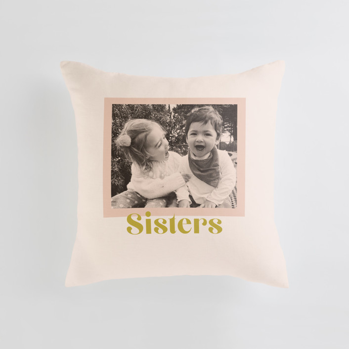 Tinted Frame Medium Square Photo Pillow