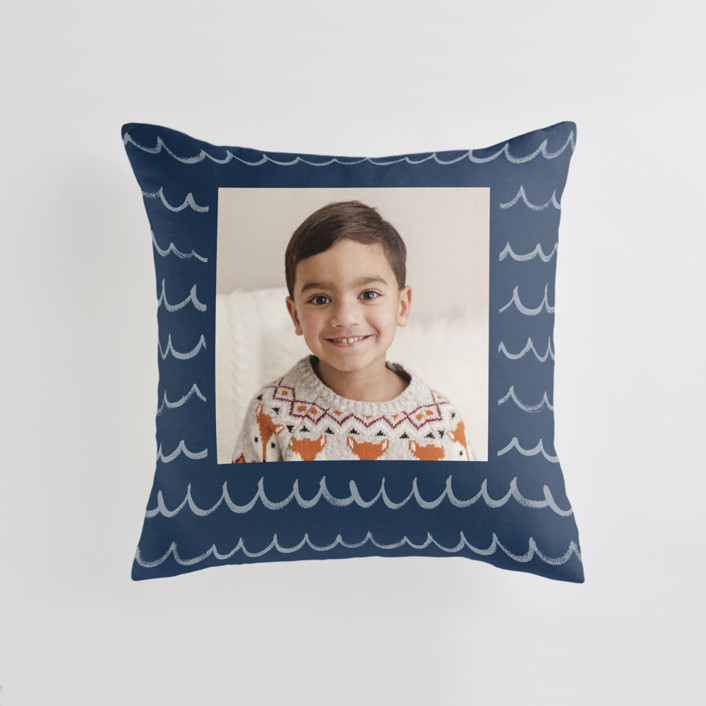 Surf's Up - Cool Medium Square Photo Pillow