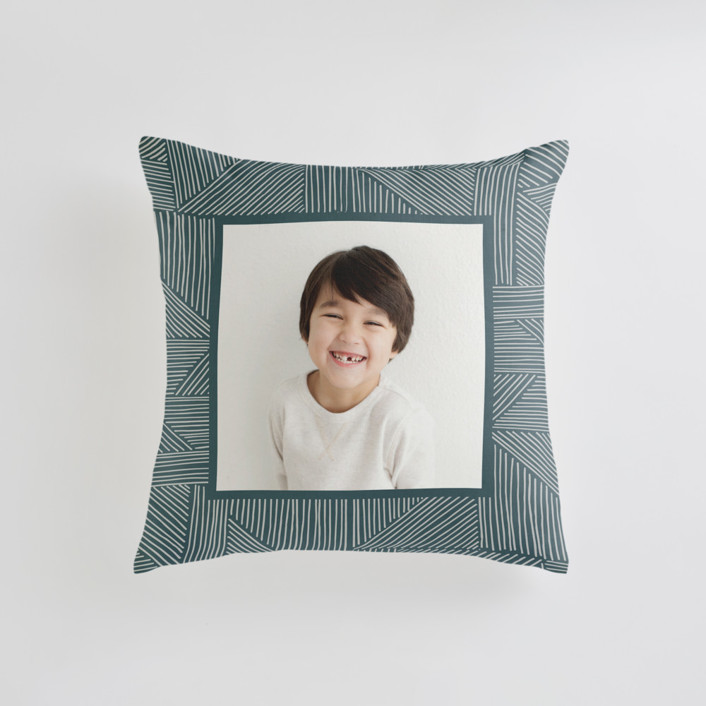 Sketchbook Geometric Small 18 Inch Photo Pillow