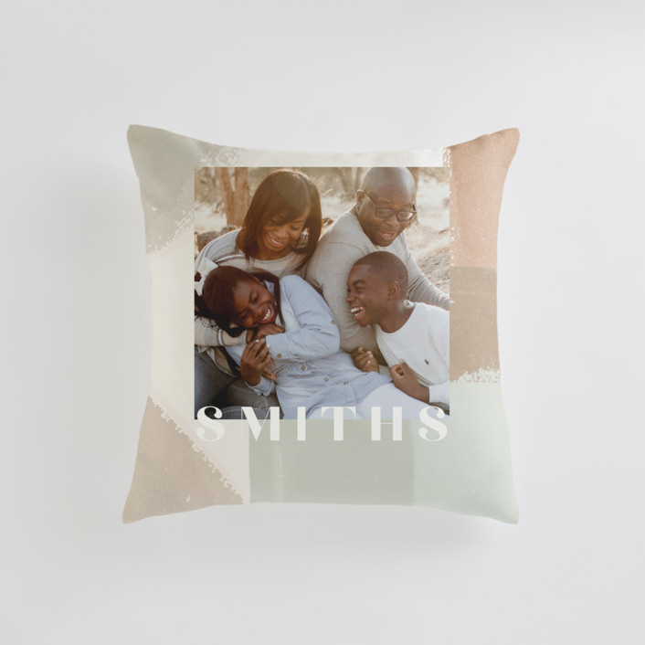 Layered Paint Small 18 Inch Photo Pillow
