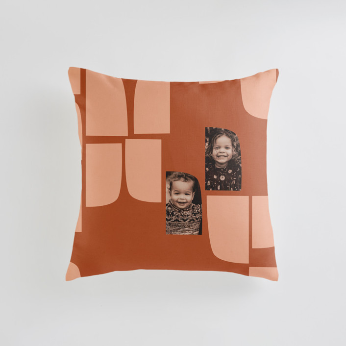 mod flock Small 18 Inch Photo Pillow