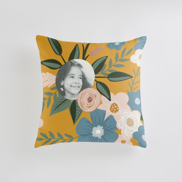 Vintage Floral Small 18 Inch Photo Pillow