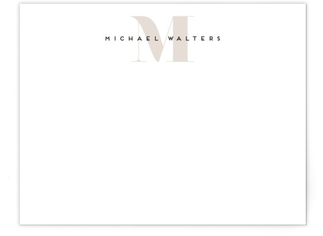 Strong initial Personalized Stationery