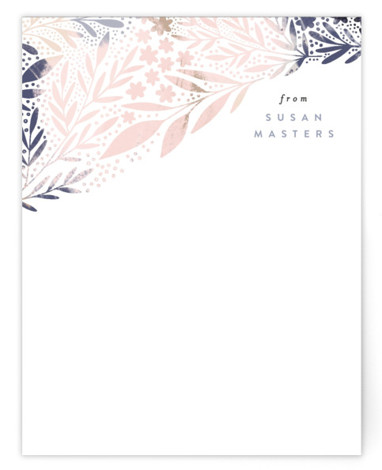 Scattered Florals Personalized Stationery