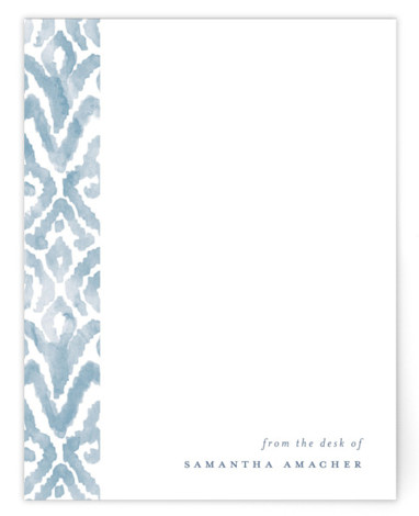 Painterly Damask Personalized Stationery