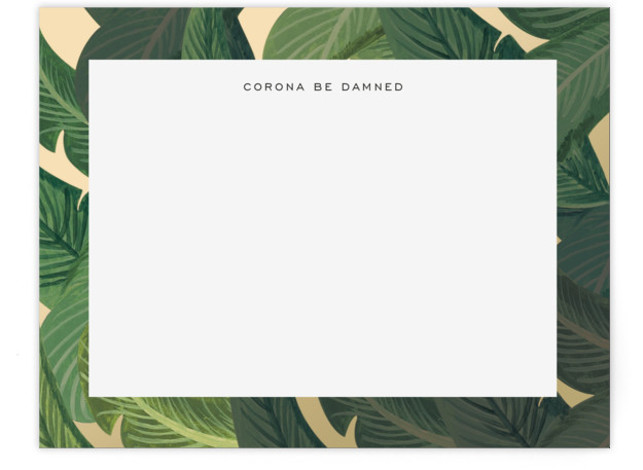 Palm Feelings Personalized Stationery