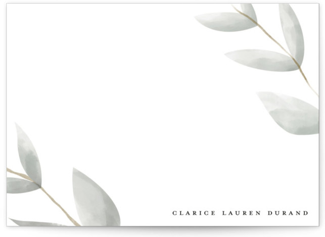 modern leaf 5x7 Personalized Stationery