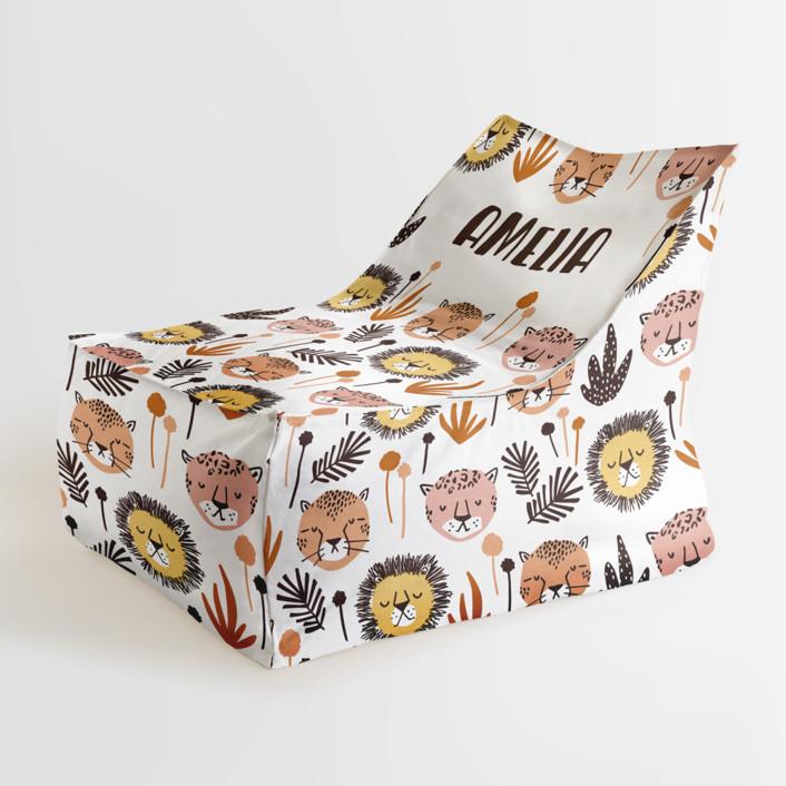 Safari Cats Personalizable Triangle Chairs