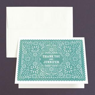 Fiesta Folk Art Bridal Shower Thank You Cards