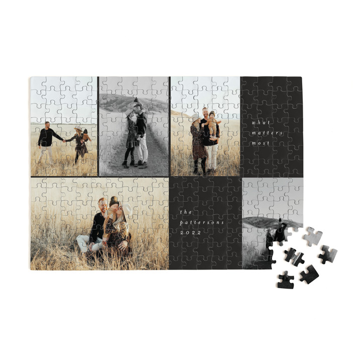 Holiday Grid 252 Piece Custom Puzzle