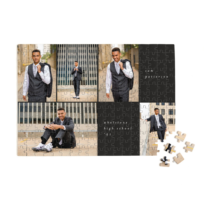 Holiday Grid 252 Piece Custom Puzzle