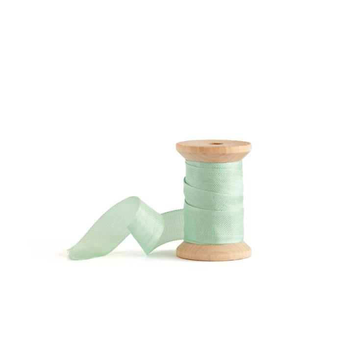 Mint Shimmer Wedding Ribbon
