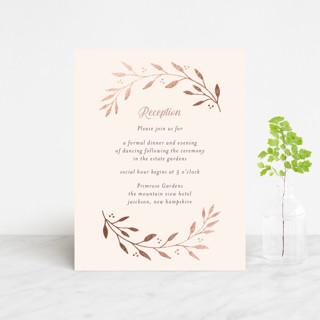 Vineyard Foil-Pressed Reception Cards