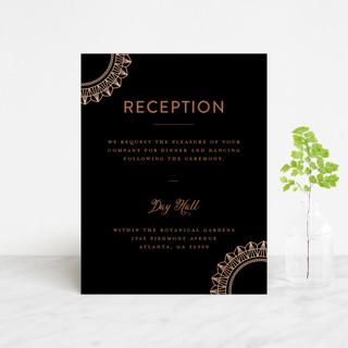 mandala Foil-Pressed Reception Cards