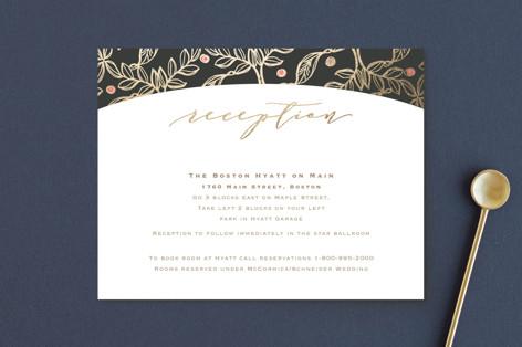 Floral Sprigs Foil-Pressed Reception Cards
