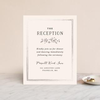Alabaster Florals Foil-Pressed Reception Cards