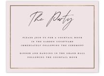 Pinecrest Foil-Pressed Reception Cards