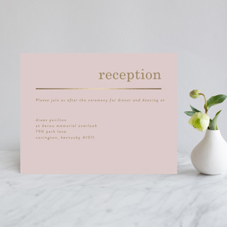 Textbook Foil-Pressed Reception Cards
