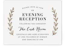 Elegant Announcement Foil-Pressed Reception Cards