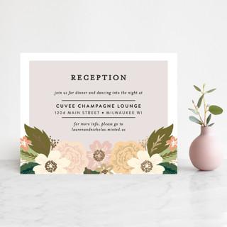 Classic Floral Foil-Pressed Reception Cards