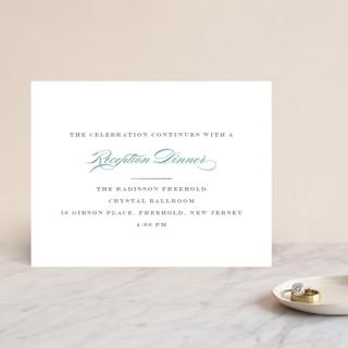 Charming Go Lightly Foil-Pressed Reception Cards